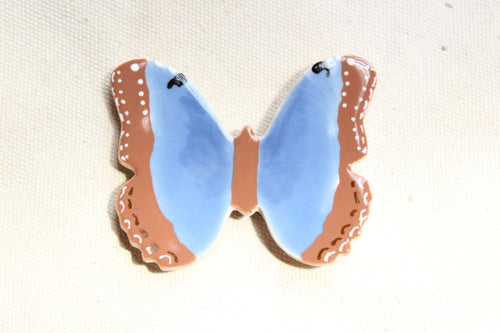 Butterfly Magnet - Blue + Brown Butterfly Magnet