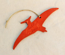 Load image into Gallery viewer, Dinosaur Ornament - Pterodactyl Ornament