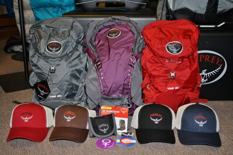Osprey packs and giveaways