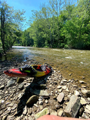 taking a break on the river bank