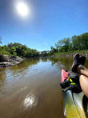 floating on the river