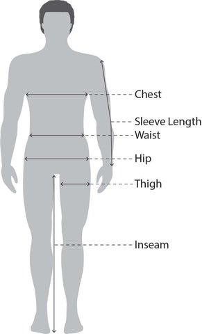 Men's Size Measurements