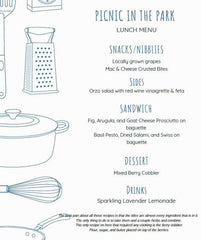 Picnic menu ideas