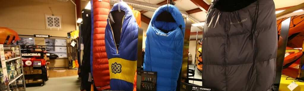Sleeping bags at Appalachian Outfitters