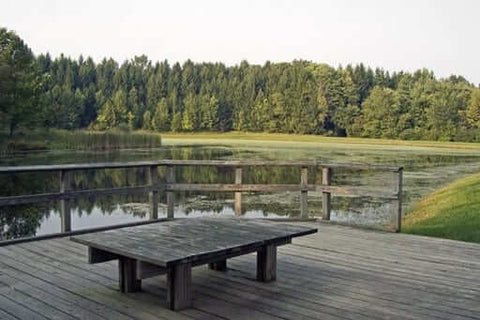 Tables at Kendall Lake