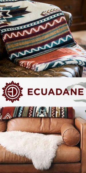 Ecuadane logo with a blanket and a couch