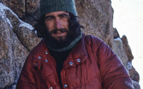 Rab Carrington on Cerro Torre in Patagonia, late 1970s