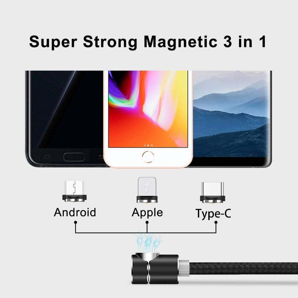 Magnetic Phone Charging Cable, 3 in 1 Cable