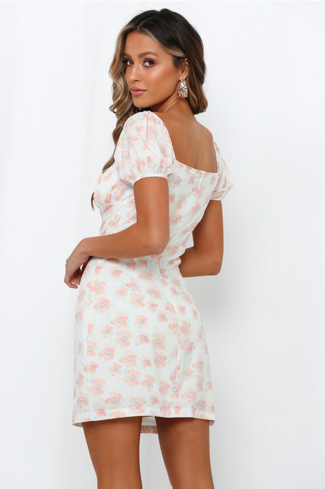 Peach Floral Maggie May Dress