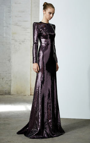 Felix Sequin L/S Gown