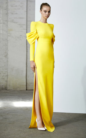 Hudson Satin Crepe Gown