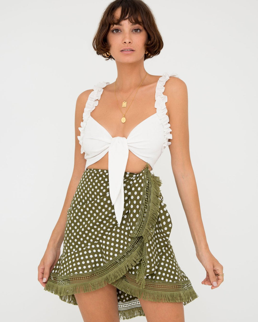 Etienne Tie Crop by Carver at Maximillia.