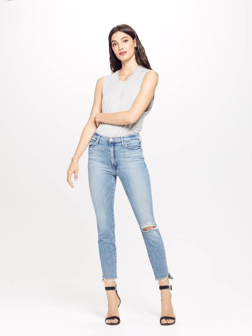 Stunner Ankle Step Fray Jean - Exposed Secret Sister at Maximillia eBoutique.
