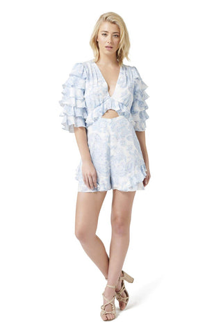 Gia Silk Ruffle Playsuit