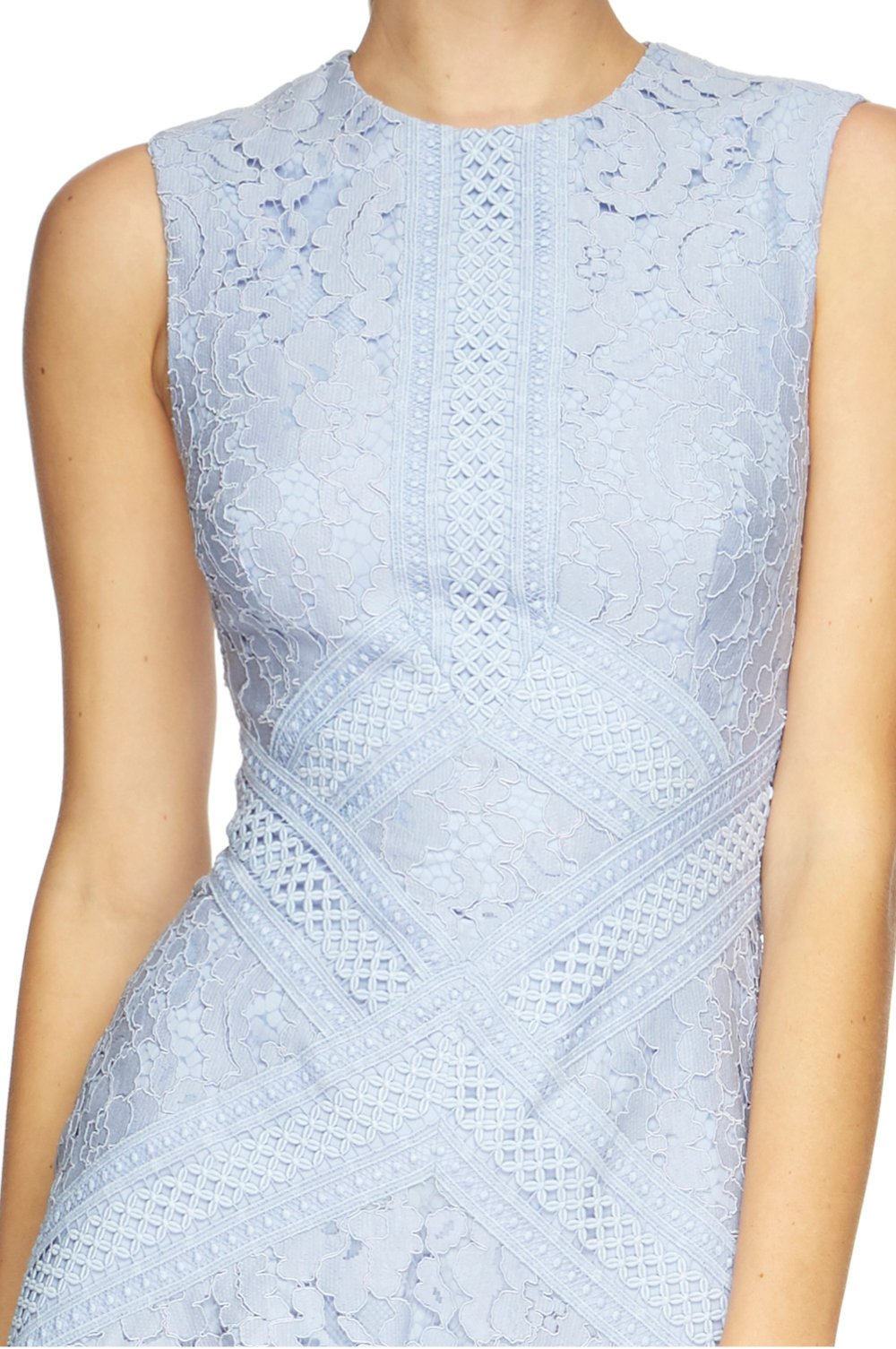 Melody Lace Flare Dress - Blue