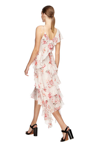 Blossom Georgette Midi Dress