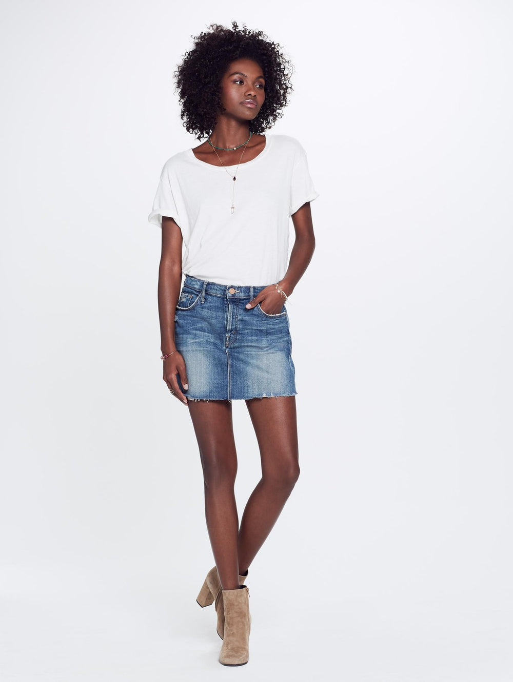 Vagabond Mini Skirt - Natural Born Trouble at Maximillia eBoutique.