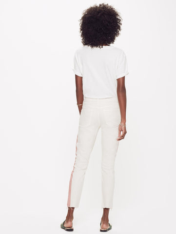 Looker Ankle Fray Jean - So Far Gone Ivory/Rose