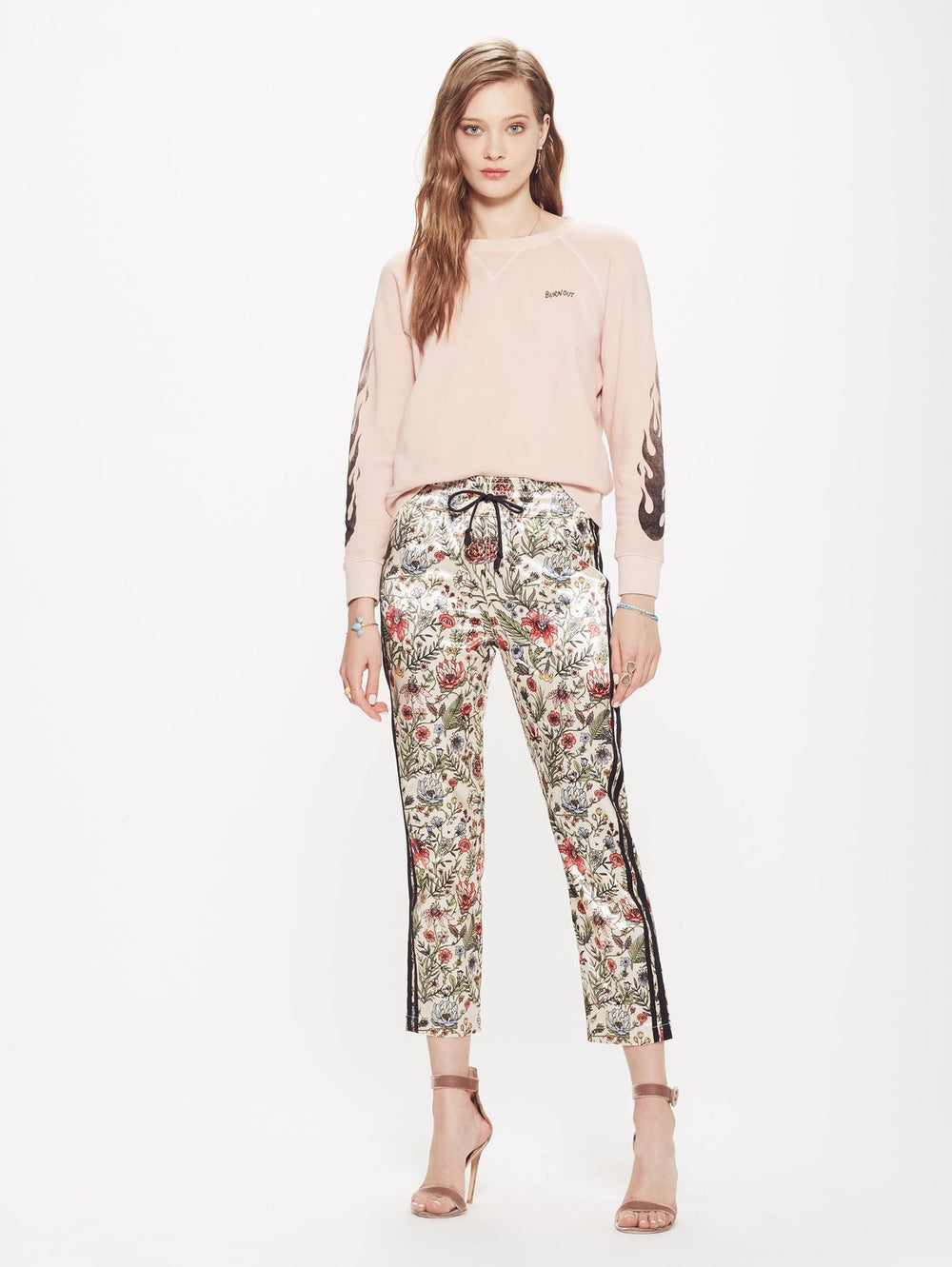 Lounger Ankle Pant - The Garden Of Good And Evil by Mother at Maximillia eBoutique.