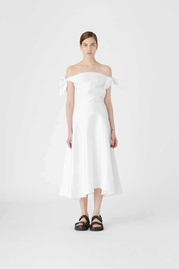 The Benazir Midi Dress in Cold White by CAMILLA AND MARC
