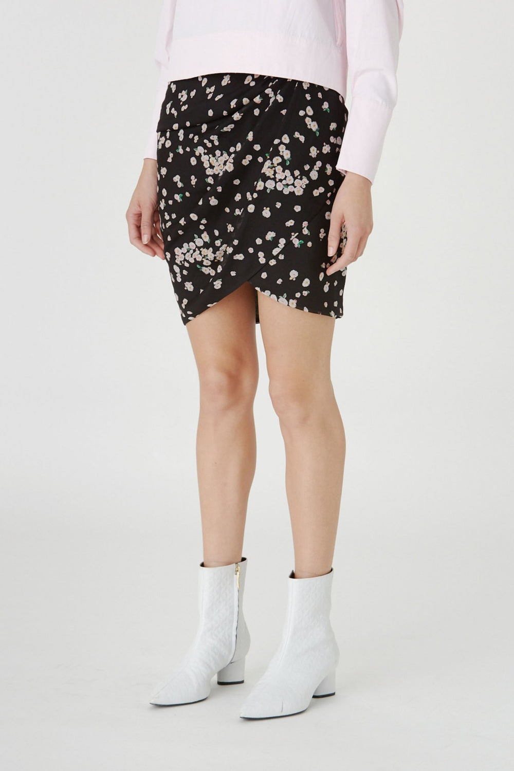 The Gardin Skirt in Camelia Spot Print by CAMILLA AND MARC