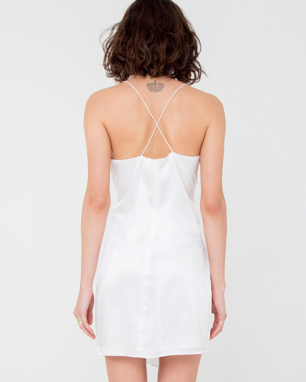 Elle Silk Mini Dress - Oyster