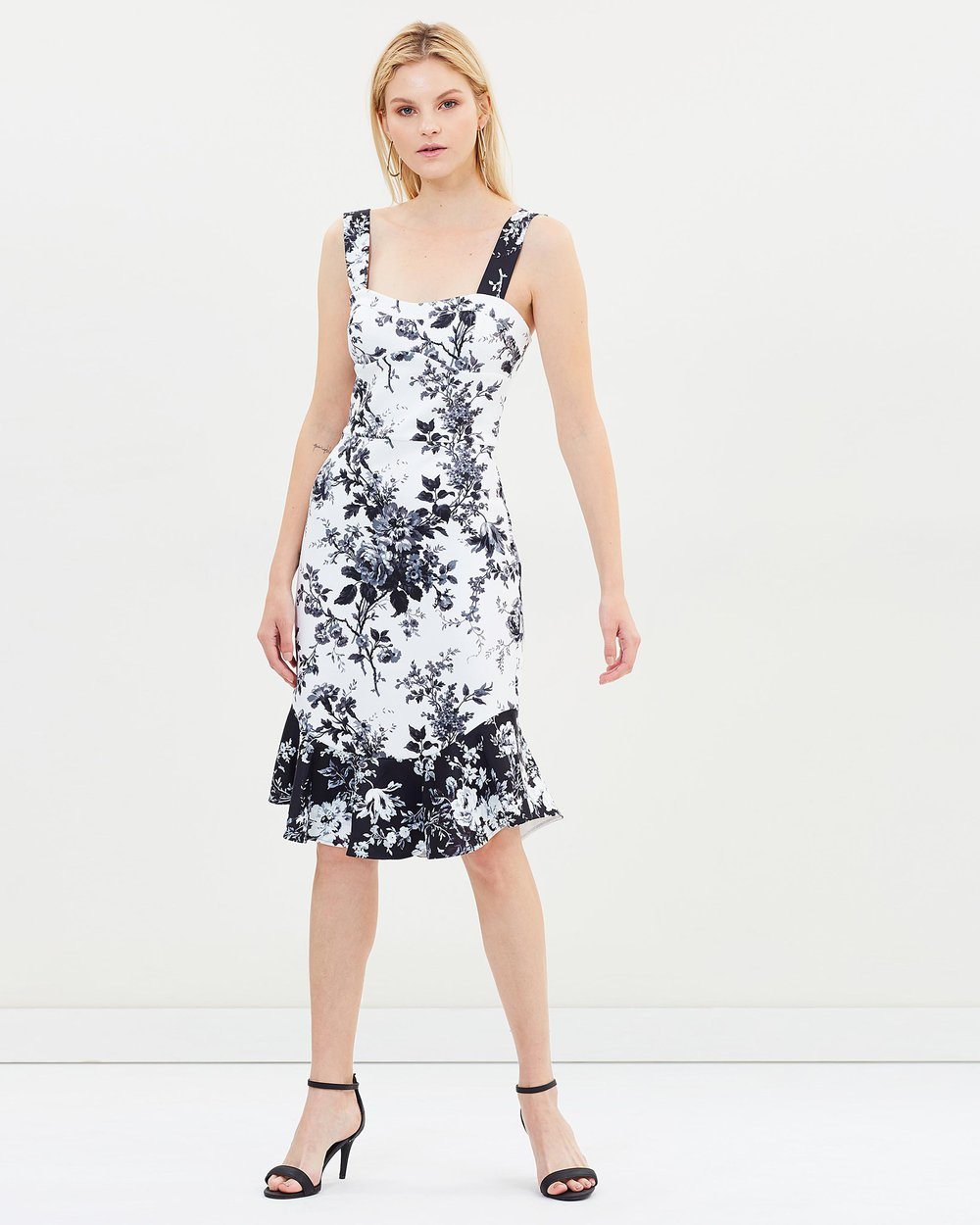 Sonnet Midi Flip Dress by Lover the Label at Maximillia eBoutique.