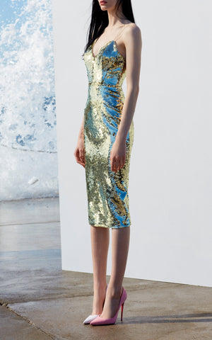 Eva Sequin Lady Dress
