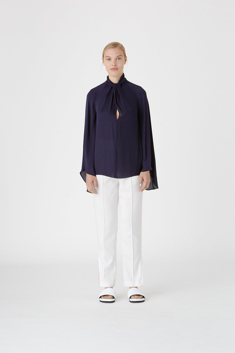The Loren Long Sleeve Top in Indigo by CAMILLA AND MARC