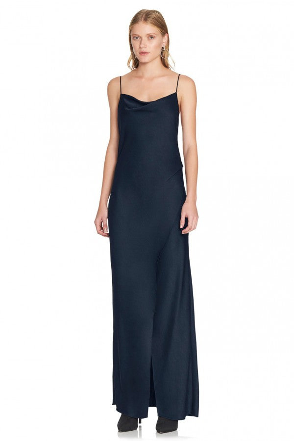 The Bowery Slip Dress in Navy by CAMILLA AND MARC