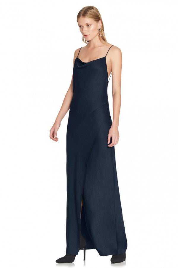 Bowery Slip Dress - Navy