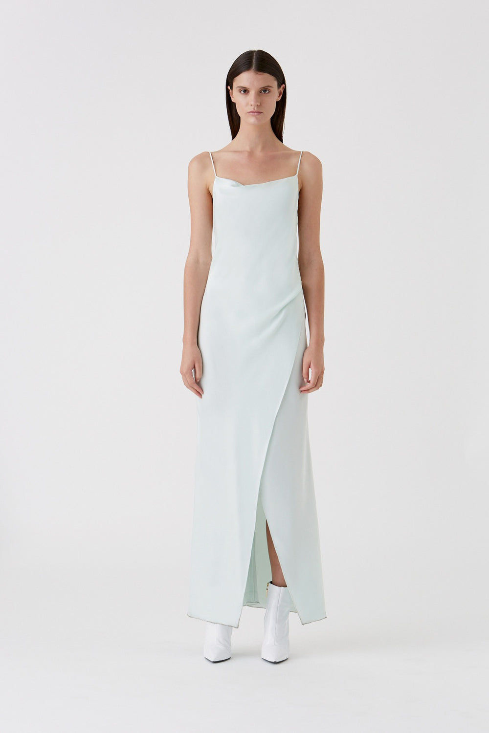 The Bowery Slip Dress in Ice Mint by CAMILLA AND MARC