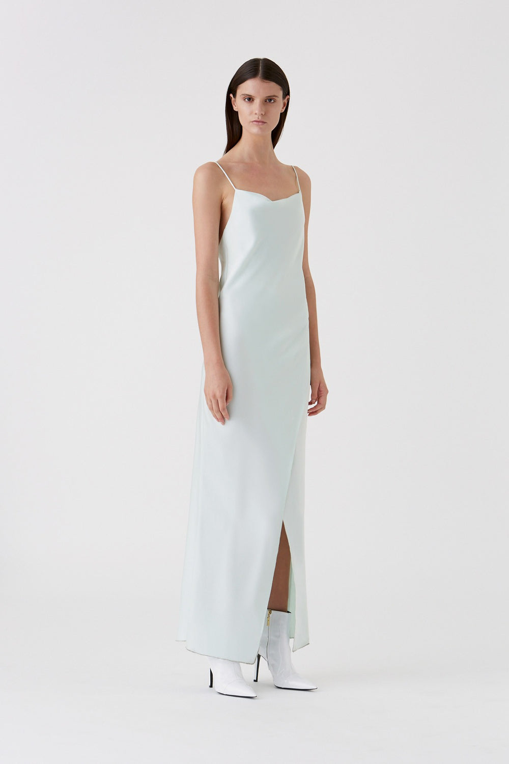 Bowery Slip Dress - Ice Mint