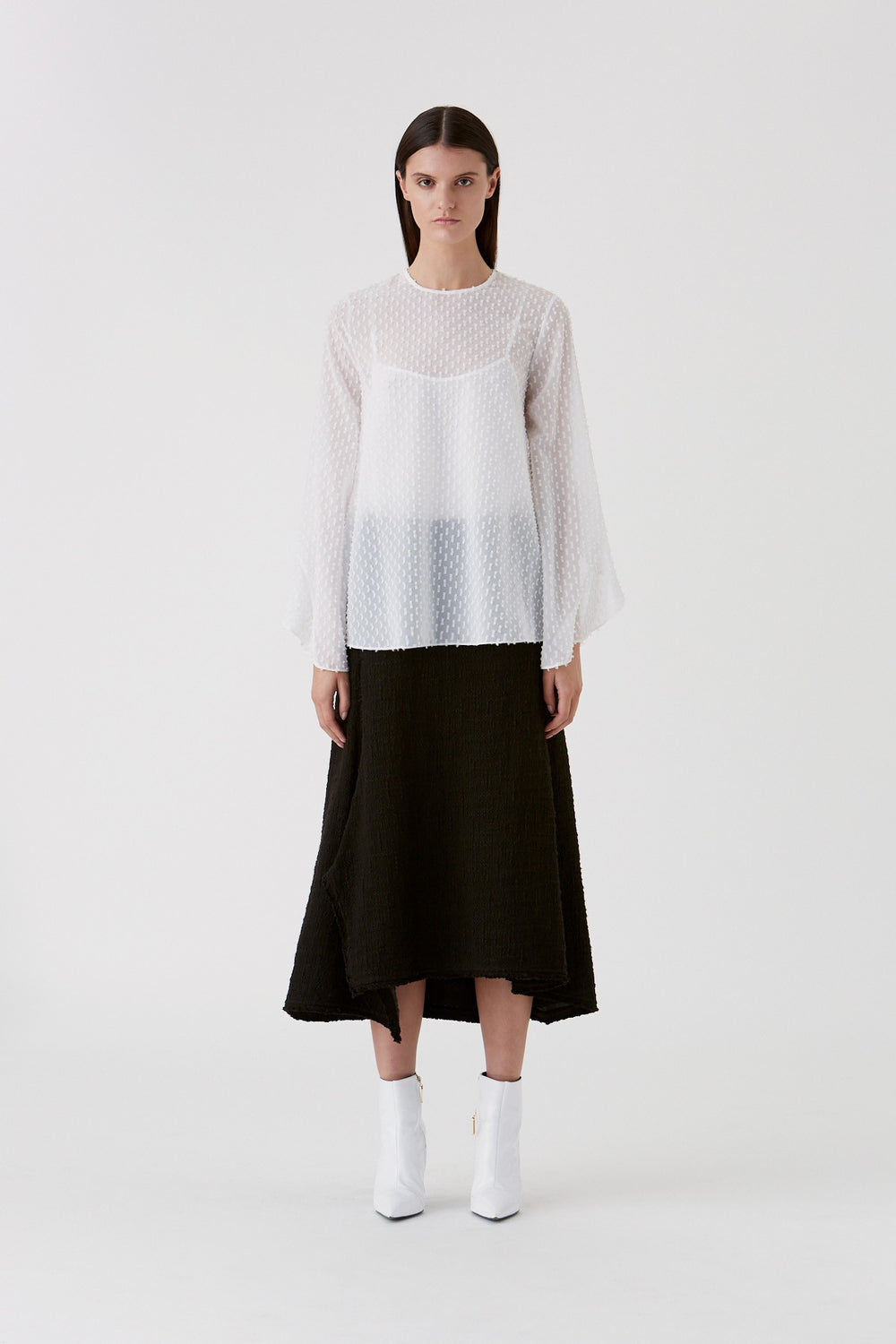The Evelyn Top in Cold White by CAMILLA AND MARC