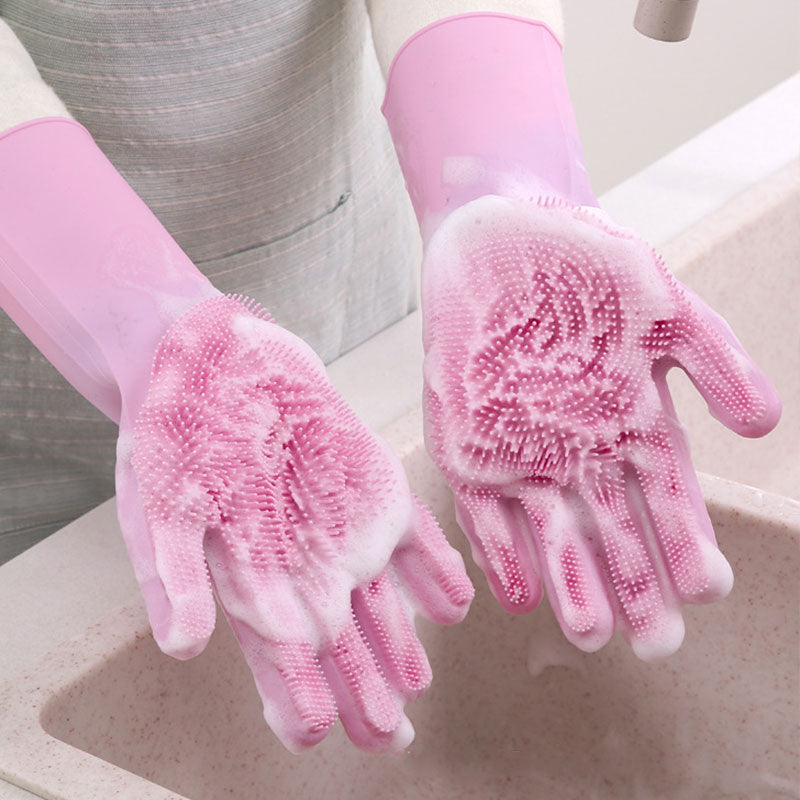 Image result for Silicone cleaning gloves