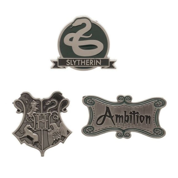 Harry Potter Slytherin Lapel Pin Set