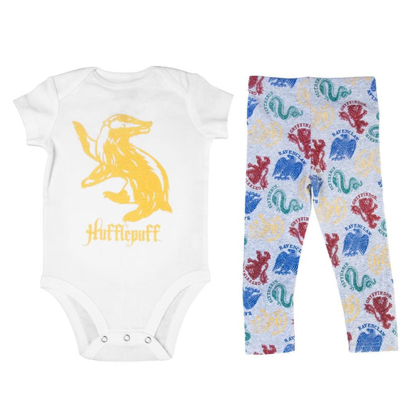 Harry Potter Hufflepuff Baby Legging and Bodysuit Combo!