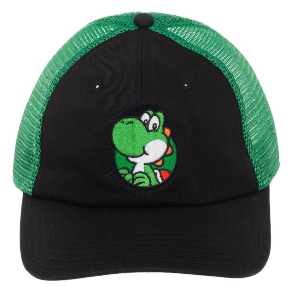 Super Mario Yoshi Mesh Back Adjustable Cap