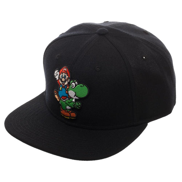 Super Mario with Yoshi Snapback Hat