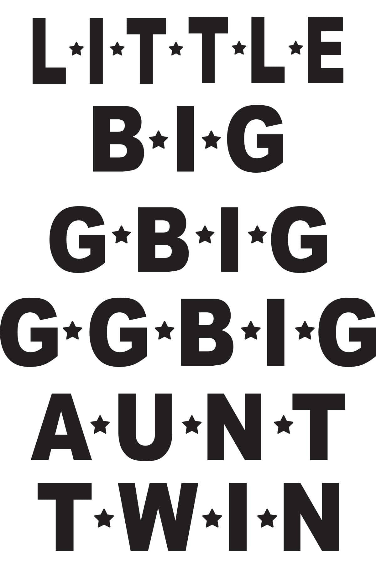 Big Little Star Font Design