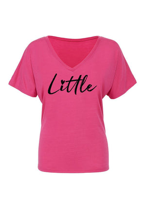 Big Little Hearts Shirt - Bella Slouchy V-Neck Short Sleeve, Ladies, Sunny and Southern, - Sunny and Southern,