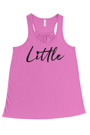 Big Little Hearts Tank - Bella Flowy Racerback, Ladies, Sunny and Southern, - Sunny and Southern,