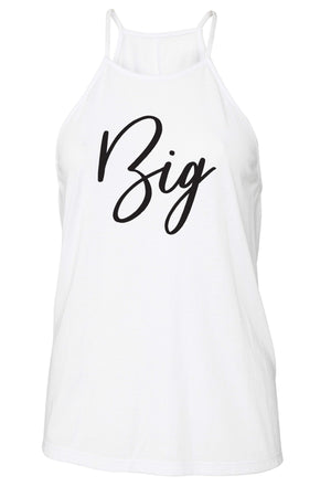 Big Little Handwriting Tank - Bella Flowy High Neck, Ladies, Sunny and Southern, - Sunny and Southern,