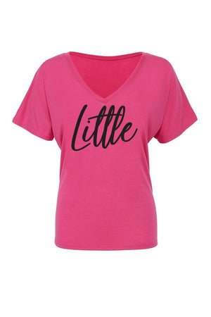 Big Little Handwriting Shirt - Bella Slouchy V-Neck Short Sleeve, Ladies, Sunny and Southern, - Sunny and Southern,