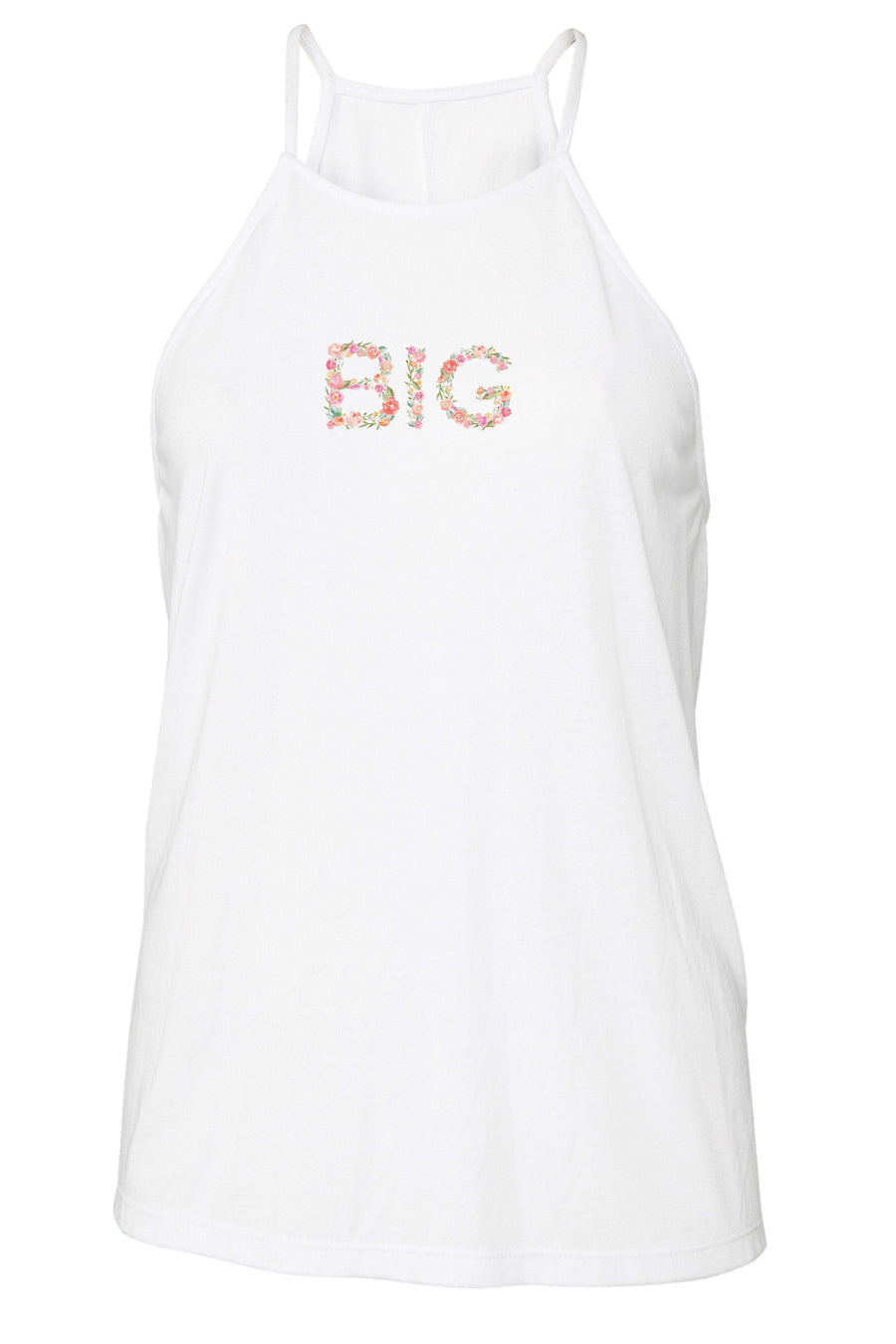 Big Little Floral Letters Tank - Bella Flowy High Neck, Ladies, Sunny and Southern, - Sunny and Southern,