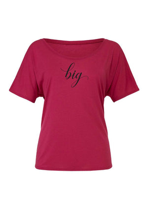 Big Little Elegant Shirt - Bella Slouchy Scoop Neck Short Sleeve