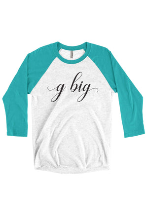 Big Little Elegant Shirt - Next Level Unisex Triblend 3/4-Sleeve Raglan