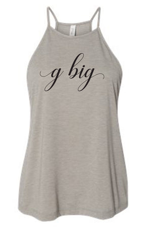 Big Little Elegant Tank - Bella Flowy High Neck
