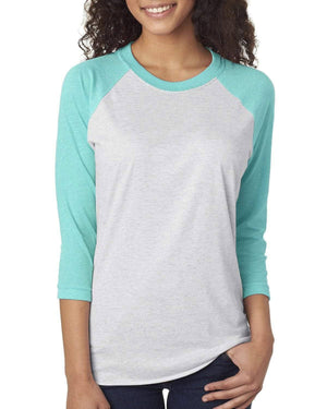 Next Level Unisex Triblend 3/4-Sleeve Raglan, Blank, Material, - Sunny and Southern,