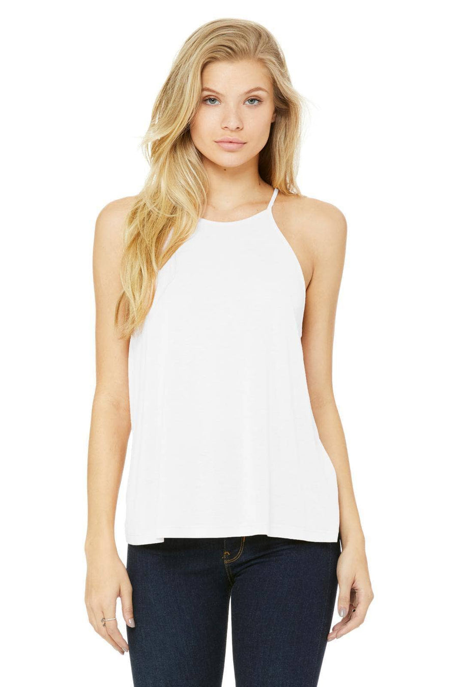 Retro Palm Trees Tank - Bella Flowy High Neck